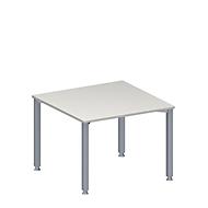 Anbautisch MODENA FLEX, höhenverstellbar, Quadrat-Form, 4-Fuß-Quadratrohr, B 1000 x T 1000 mm, lichtgrau