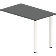 Anbautisch NEVADA, Quadratrohrfuß, B 1000 x T 600 x H 740 mm, Lärche grau/weiß