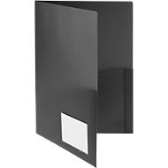 Angebotsmappe FolderSys, A4, 4 Taschen, Visitenkartentasche, Polypropylen, schwarz, 10 Stück