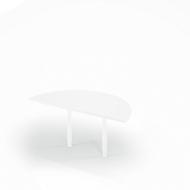 Ansatztisch, Ø 1600 mm, weiß/weiß