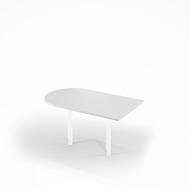 Ansatztisch, B 1400 x T 800 mm, lichtgrau/weiß