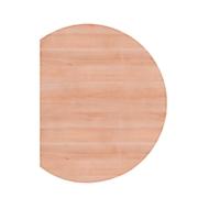 Ansatztisch JENA, 1-Fuß, B 800 x T 1000 x H 720 mm, Gestell alusilber, Nussbaum-Dekor