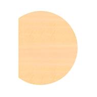 Ansatztisch JENA, 1-Fuß, B 800 x T 1000 x H 720 mm, Gestell verchromt, Ahorn-Dekor