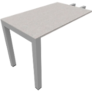 Ansatztisch SOLUS PLAY, Rechteck, B 1000 x T 600 x H 720 - 820 mm, Ceramic grey