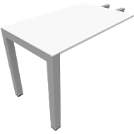 Ansatztisch SOLUS PLAY, Rechteck, B 1000 x T 600 x H 720 - 820 mm, weiß