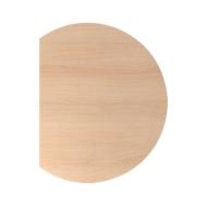 Ansatztisch ULM, li. od. rechts, B 800 x T 1000 x H 650-850 mm, Eiche-Dekor