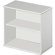 Anstell-/Aufsatzregal Start Up, in in Höhe zu Schreibtisch Start Up, , 2 OH & 1 Fachboden, B 800 x T 420 x H 726 mm, lichtgrau
