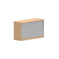 Anstellquerrollladenschrank NEVADA, B 1200 x T 445 x H 720 mm, Buche-Dekor