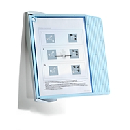 Antibacterieel wandhouder Sherpa® Bact-O-Clean Durable, met 10 panelen, A4, PP, wit