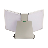 Antibakterielles Sichttafelsystem Tarifold Sterifold, Tischständer mit 10 Tafeln im Format A4, erweiterbar, weiß