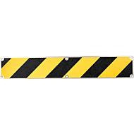 Antislip-plaat, 110 x 660 mm, zwart/geel