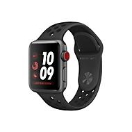 Apple Watch Nike+ Series 3 (GPS + Cellular) - Weltraum grau Aluminium - intelligente Uhr mit Nike Sportband - anthrazit/schwarz - 16 GB - nicht angegeben