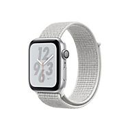 Apple Watch Nike+ Series 4 (GPS + Cellular) - Aluminium, Silber - intelligente Uhr mit Nike Sportschleife - Summit White - 16 GB - nicht angegeben