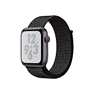 Apple Watch Nike+ Series 4 (GPS + Cellular) - Weltraum grau Aluminium - intelligente Uhr mit Nike Sportschleife - schwarz - 16 GB - nicht angegeben