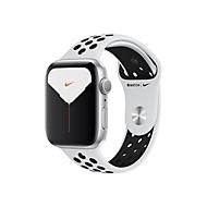 Apple Watch Nike Series 5 (GPS) - Aluminium, Silber - intelligente Uhr mit Nike Sportband - pures Platin/schwarz - 32 GB