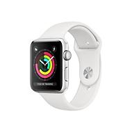 Apple Watch Series 3 (GPS) - Aluminium, Silber - intelligente Uhr mit Sportband - weiß - 8 GB