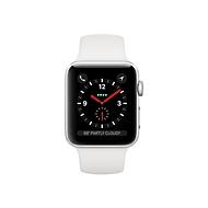 Apple Watch Series 3 (GPS + Cellular) - Aluminium, Silber - intelligente Uhr mit Sportband - weiß - 16 GB - nicht angegeben