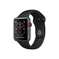 Apple Watch Series 3 (GPS + Cellular) - Weltraum grau Aluminium - intelligente Uhr mit Sportband - schwarz - 16 GB - nicht angegeben
