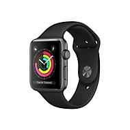 Apple Watch Series 3 (GPS) - Space grau Aluminium - intelligente Uhr mit Sportband - schwarz - 8 GB