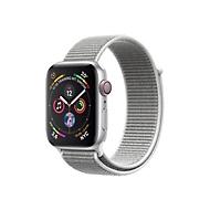Apple Watch Series 4 (GPS + Cellular) - Aluminium, Silber - intelligente Uhr mit Sportschleife - Muschelschale - 16 GB - nicht angegeben