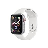 Apple Watch Series 4 (GPS + Cellular) - Edelstahl - intelligente Uhr mit Sportband - weiß - 16 GB - nicht angegeben