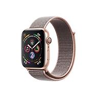 Apple Watch Series 4 (GPS + Cellular) - Gold Aluminium - intelligente Uhr mit Sportschleife - rosa sandfarben - 16 GB - nicht angegeben