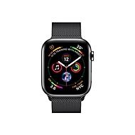 Apple Watch Series 4 (GPS + Cellular) - tiefschwarz Edelstahl - intelligente Uhr mit Milanaise Armband - tiefschwarz - 16 GB - nicht angegeben