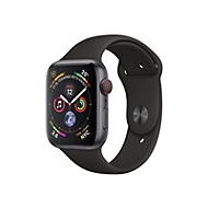 Apple Watch Series 4 (GPS + Cellular) - Weltraum grau Aluminium - intelligente Uhr mit Sportband - schwarz - 16 GB - nicht angegeben