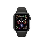 Apple Watch Series 4 (GPS) - Weltraum grau Aluminium - intelligente Uhr mit Sportband - schwarz - 16 GB