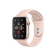 Apple Watch Series 5 (GPS) - Gold Aluminium - intelligente Uhr mit Sportband - rosa sandfarben - 32 GB