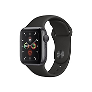 Apple Watch Series 5 (GPS) - Weltraum grau Aluminium - intelligente Uhr mit Sportband - schwarz - 32 GB