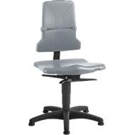 Arbeitsstuhl bimos SINTEC 2, Permanentkontakt mit Sitzneigungs/tiefenverstellung, Orthositz, ohne Armlehnen, mit Gleitern