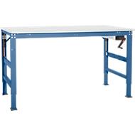 Arbeitstisch Ergo K, m. Kurbel,  1000 x 800 mm, Tischplatte Melamin, brillantblau
