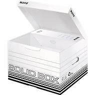Archiefbox Leitz Solid Box M 6118, met klapdeksel & automatische opbouw, 10 stuks, wit