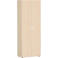 Archiefkast ALICANTE, 6 ordnerhoogten, 5 legborden, afsluitbaar, B 800 x D 400 x H 2160 mm, esdoorn