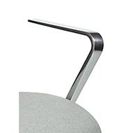 Armleuning voor bureaustoel Commander, van gepolijst volledig aluminium, 1 paar