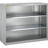 Armoire à étagères, avec 2 tablettes intermédiaires, l. 1055mm, argent clair