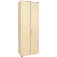 Armoire à portes battantes TETRIS WOOD, 5 HC, hauteur (patins inclus), l. 800mm, coloris érable