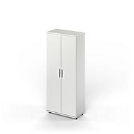 Armoire à portes battantes TETRIS WOOD, 5 HC, l. 800 mm, avec patins, gris clair
