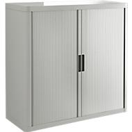 Armoire à rideau coulissant, H 1040mm, gris/gris
