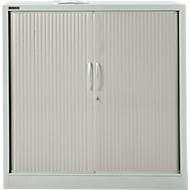 Armoire à rideau MS iCONOMY, acier, 3 hauteurs de classeurs, l. 1200 x P 400 x H 1215 mm, gris clair RAL 7035