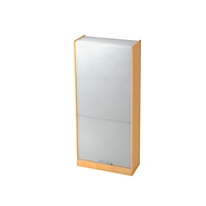 Armoire à rideau TARVIS, 5 HC, l. 900 x P 400 x H 2004 mm, gris clair/gris clair