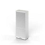 Armoire à rideau vertical TETRIS WOOD, 5 HC, l. 800 mm, avec patins, gris clair