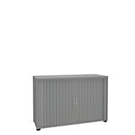 Armoire à rideaux, 2 HC, 1 pièce, sans cloison médiane, l. 1200 mm, argenté