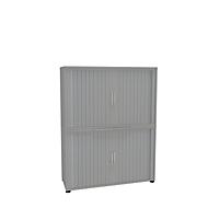 Armoire à rideaux, 4 HC, en 2 parties, sans cloison médiane, l. 1200 mm, argenté