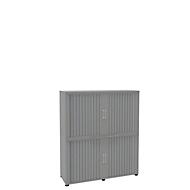 Armoire à rideaux, 4 HC, en 2 parties, sans cloison médiane, l. 1350 mm, argenté
