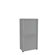 Armoire à rideaux, 4 HC, en 2 parties, sans cloison médiane, l. 1800 mm, argenté