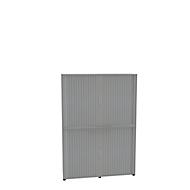 Armoire à rideaux, 6 HC, en 2 parties, avec cloison médiane, l. 1600 mm, argenté