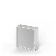 Armoire à rideaux d'extension TETRIS WOOD, 3 HC, l. 1200 mm, gris clair