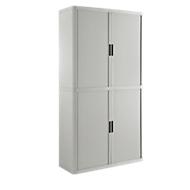Armoire à rideaux gris/gris H 2040 mm